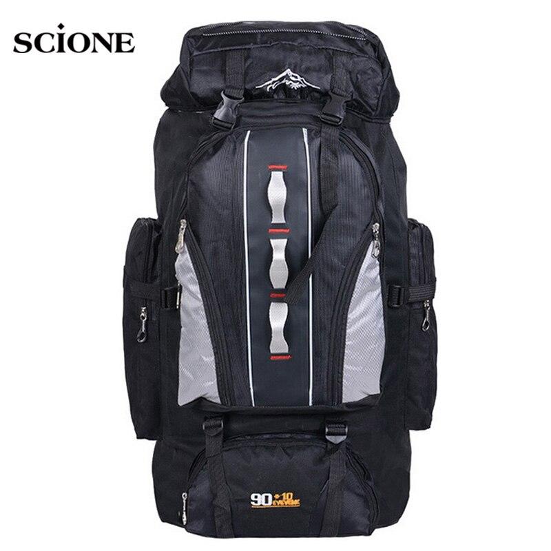 Large Knapsack 100L Outdoors Sports Bags Waterproof Nylon Backpack Women Men Hiking Camping Climbing Fishing Rucksack Bag XA769A<br>
