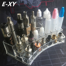E-XY Vape Box Mod Ego Bottle Sub Vapor RDA RTA V2 RBA Atomizer Battery Arc Display Case Electronic Cigarette Stand Shelf Holder