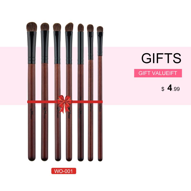 Anmor Acheter 3 Obtenir 1 Cadeau Professionnel Pinceaux de Maquillage Kit Poudre Blush Brosses de Ventilateur avec un cadeau fard à paupières brush set 2