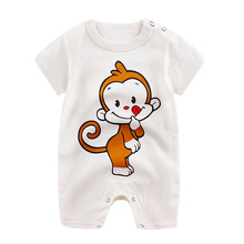 baby clothes 2017 summer Cartoon newborn romper baby boy girls clothes cotton baby clothing bebes  Infantil Clothing
