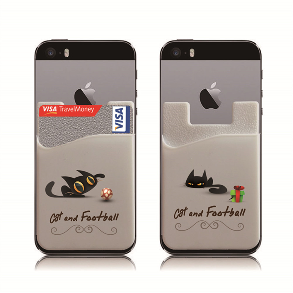 Phone Card Holder, 3M Credit Card ID Card Holder Works with Every phone iPhone, Android Samsung & Most Smartphones