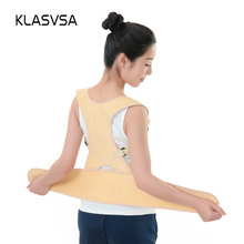 KLASVSA Neoprene Magnetic Back Shoulder Brace Posture Corrector Support Back Support Belt Correction Correcter Posture Scoliosis(China)