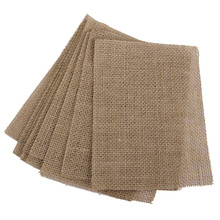 10pcs Kitchen Dining Burlap Coasters Table Mats (Brown) coasters rustic wedding decor vintage wedding