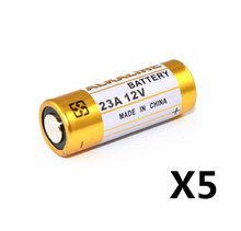 5pcs/Lot Small Battery 23A 12V 21/23 A23 E23A MN21 MS21 V23GA L1028 Alkaline Dry Battery(China)