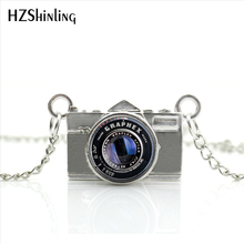 2017 New Arrived DIY Black Old Camera Lens Necklace Photographer Silver Jewelry Black Camera Pendant Necklace NCA-08(China)