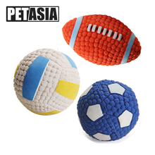 Dog Pet Rubber Pinball Balls Toy For Small Dogs Interactive Football Volleyball Puppys Dog Chew Play Toys Cachorro Pet Supplies(China)