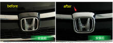 For Honda CRV 2015 2016 ABS Front Grill Emblem Cover Trim 1 pcs / auto Accessories
