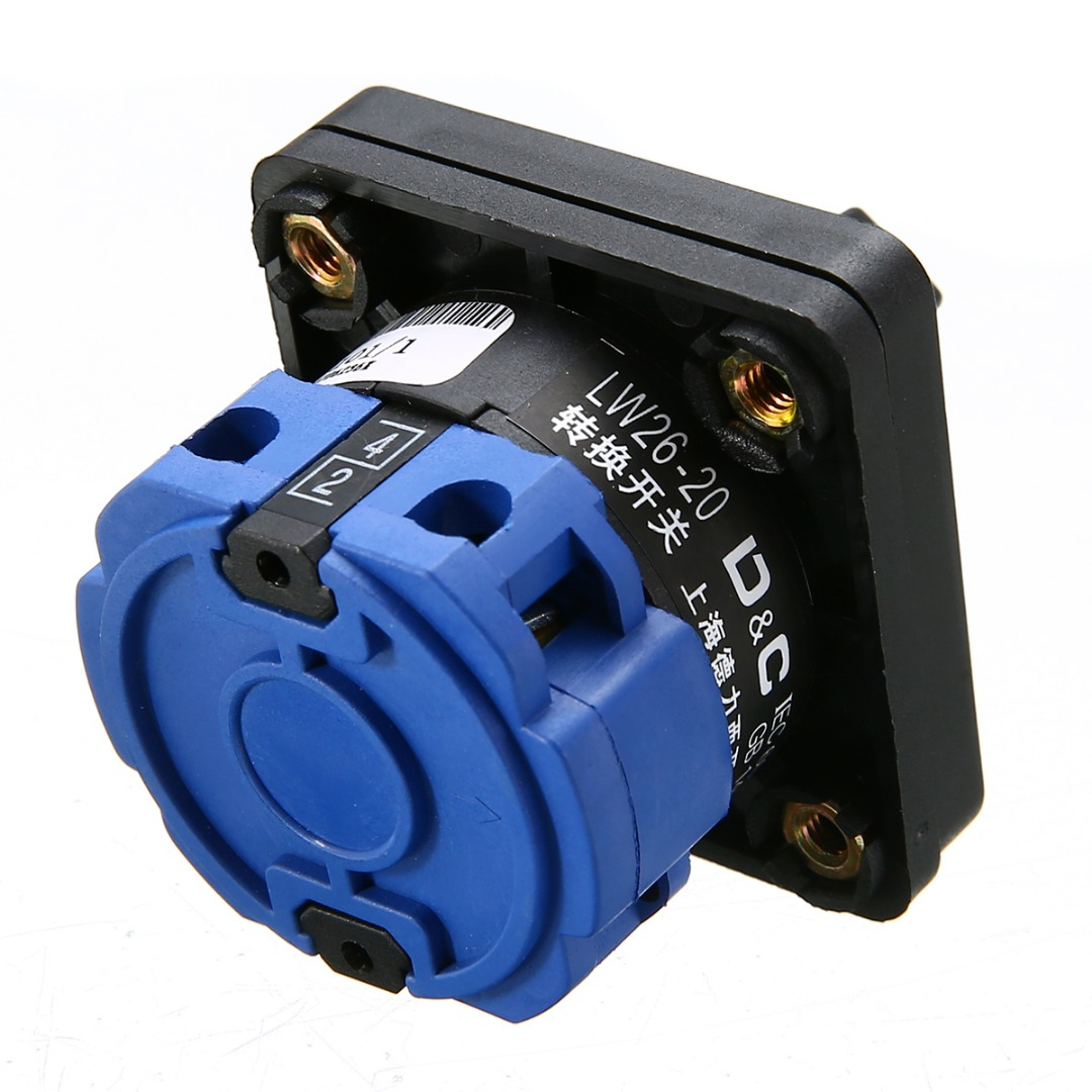 AC 500V On/Off/On Electric 3 Positions Control Rotary Selector Cam Changeover Switch Universal Transfer Combination Switch