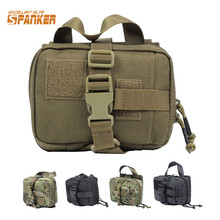 SPANK Molle 1000D Tactical Medical Pouch Quick-drying First Aid Utility Bag Military Hunting Camouflage Waist Carrier Bag(China)