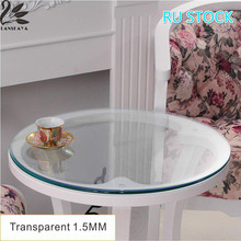 Lanskaya Ru Stock Modern Wedding Oilproof Round Tablecloth Pvc Transparent Table Cover Soft Glass Thickness 1.5 Mm Ship By Roll
