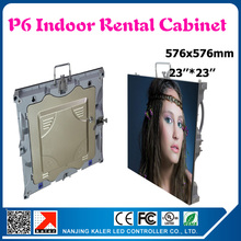 TEEHO Indoor smd p6 led cabinet full color advertising rental led display board 576*576mm indoor led video wall screen