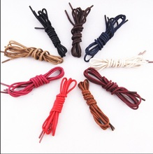 Buy 2 Get 1 free,Colored Men Lady Round Waxed Lace Shoelace Leather Shoe Boot  120cm