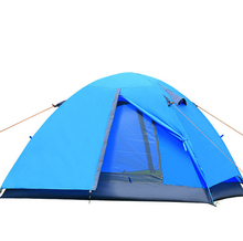 2 person double layer two door aluminum rod tents outdoor camping hiking tent Lightweight portable 200*150cm tent F204
