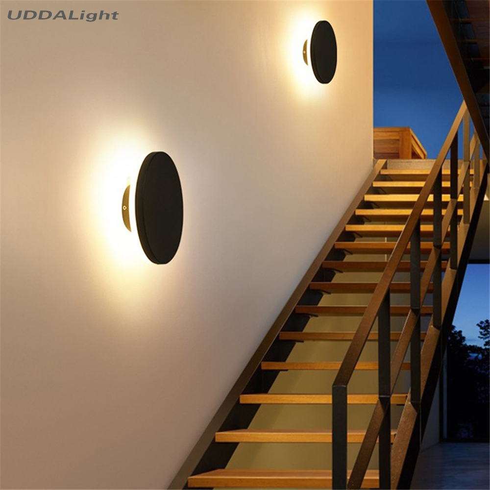 12W outdoor Wall Light acrylic Porch Garden Aisle Corridor outdoor led wall Aluminum