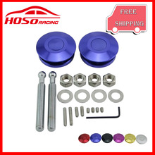 Car Quick Latch New Push Button Billet Hood Pins Lock Clip Universal Kit For FORD Mustang 4.6L V8 96-04(China)