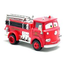 DISNEY Lightning McQueen selling Pixar Cars 2 Red Firetruck Deluxe Fire Truck Metal Toy Car Loose Diecast 1:55 for Kids Children(China)