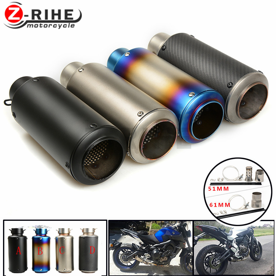 Motorcycle Exhaust Pipe Scooter Modified exhaust Muffler pipe For Yamaha YZFR6S USA VERSION 2006 2007 2008 200