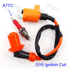 Racing ignition coil & candela a7tc per il cinese gy6 50cc 125cc 150cc ciclomotore scooter pit dirt bike moto motocross