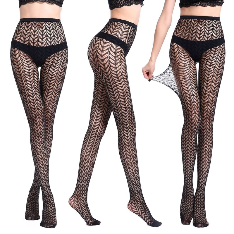 Hot sexy stockings women lace mesh tights pantyhose new charming fashion black sexy stockings female WK02