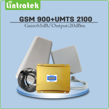 Dual Band Signal Repeater 2G 3G EDGE/HSPA GSM 900MHz & WCDMA UMTS 2100MHz Mobile Signal Booster Full Set with Antenna and Cable