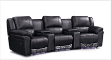 Cinema chairs chairs theater with modern leather sofa recliner lounge sofa Black