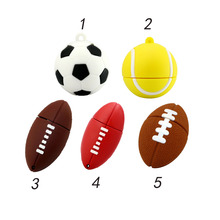 5 style Sports ball usb flash drive 4GB 8GB 16GB 32GB memory stick rugby Pendrive football Pendriver tennis usb disk USB 2.0(China)