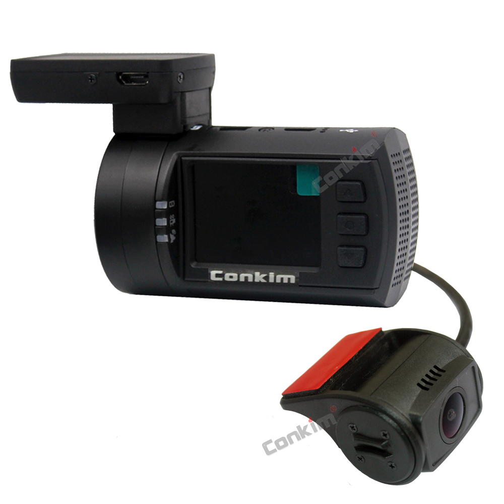 Conkim Mini 0906 Two Camera GPS Car DVR Registrar 1080P Full HD Rear View Camera Capacitor Dual Lens DVR Parking Guard Sensor 21