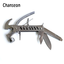 Chanseon Hammer Multi Tools Kit Knife Saw Claw Folding Fold Portable Opener Camping Multifunctional Multitool Screwdriver Set(China)