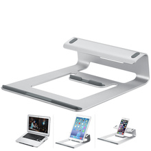 Aluminum Laptop Stand Desk Dock Holder Bracket Cooler Cooling Pad Multifunction for MacBook Pro/Air/iPad/iPhone/Notebook/Tablets
