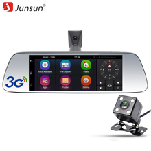 Junsun 7 inch Special Car DVR Camera Mirror Android GPS navigation Bluetooth 16G Dual Lens FHD 1080p Video Recorder Dash Cam