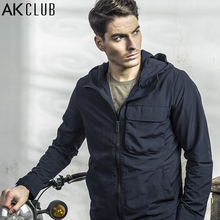 AK CLUB Brand Men Jacket Spring Urban Agent Jacket Thin Hooded Jacket High Quality Nylon Jacket Causal Men Short Coat 1604005(China)