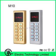 4pcs/lot M10 standalone access control IP65 IC card MF card access controller with keyboard can works as card reader