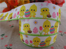 2014 new arrival 7/8'' (22mm) easter printed grosgrain ribbons easter ribbon hair accessories wholesale 50 yards A2819