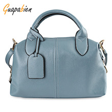 Guapabien Fashion Solid Women Leather Bag High Quality Zipper Big Capacity Ladies Handbags Casual Female Shopping Shoulder Bag