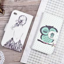 For Apple iPod Touch 4 inch Case Printing Pattern PU Leather Cover Flip Phone Cases with Card Holder