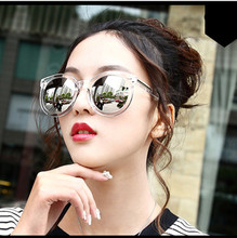 Fashion multicolour  Mirror glasses sunglasses women  Vintage sunglasses Women Brand Designer sun glasses  feminino