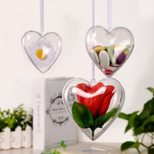 1pc Clear Candy Boxes Romantic Design Christmas Decorations Ball Transparent Can Open Plastic Bauble Ornament