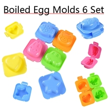 Boiled Egg Moulds mold 6 Set Bento Lunch box decoration Rabbit Bear Fish Car Shape Free Shipping