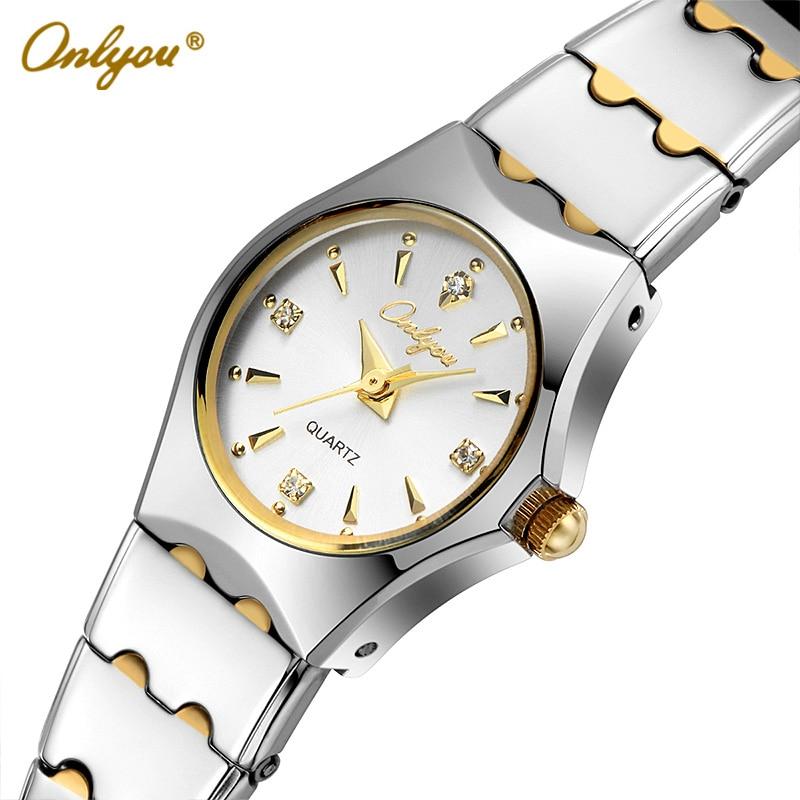 Onlyou Ladies Dress Watches Luxury Brand Women Quartz Watch Stainless Steel Gold Black Silver Wristwatches relogio feminino 8677<br>