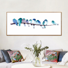 Watercolor Canvas Art Prints Home Decor Abstract Bird Wall Pictures Modern Spary Paintings For Living Room Home Interior Decor