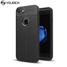 YOJOCK Luxury Skin Leather +Soft TPU Phone Case for iPhone 7 8 Plus X Camera protection Back Cover Cases for iPhone 6s 6 5s SE(China)