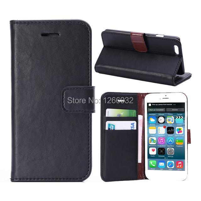 Old School Apple iPhone 6 6s Retro PU Leather Credit Card Slot Holster Wallet Case iPhone 6 s Flip Book Case Fold Cover