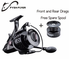 FyshFlyer TB18 Carp Spinning Fishing Reel, 11 Bearings, Carbon Front and Rear Drags, Stainless Steel Main Shaft, Metal Spool