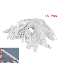 16 Pcs Bed Sheet Nylon Fasteners Clip Mattress Cover Elastic Grippers(China)