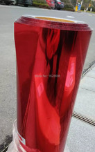 CDN-04 red color 2016 high quality pet metallic heat transfer film for textile or fabric