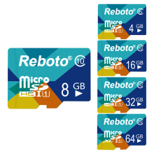 Reboto New 16GB Memory Card Micro SD Card 16 GB Green TF Card Full Capacity Guaranteed 1 Year Warranty
