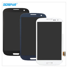 A+ 100% Tested Black/White/Blue For Samsung Galaxy S3 I9300 LCD Display Digitizer Touch Screen Assembly Replacement Repair Parts(China)