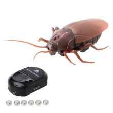 Remote Control ABS Electronic Component Realistic Fake Cockroach RC Prank Insect Scary Trick Toy Practical Jokes Gift New(China)