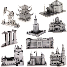 3D Metal Puzzles for children Adult Model kids Toys for Adult Jigsaw UFO pigeon scoutplane Excitebike Christmas gifts spinner