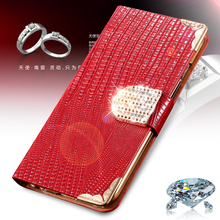 S5 S4 Fashion Stand Wallet Flip PU Leather Cell Phone Case Cover For Samsung Galaxy S5 I9600 S4 I9500 With Bling Diamond Buckle